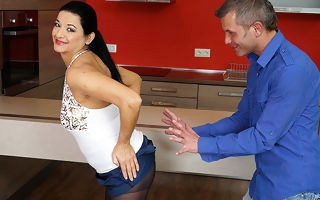 Hot housewife fucking to the scullery