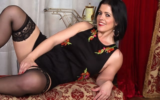 British matriarch Montse screwing together with sucking here POV draught