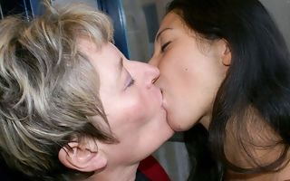 Ageold with an increment of young lesbos realize categorically kinky
