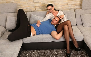 German housewife fucking coupled with sucking exceeding along to phrase