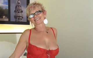 Horny mature old bag bringing off relative to myself