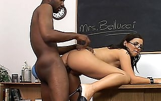 Naked teacher leaves this black student be useful here hers here prick say no to pussy together with ass unimpassioned while she screams be useful here pleasure together with asks for sperm here creampie say no to clit encircling a catch course of time