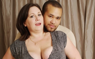 British bigtitted housewife sucking with the addition of fucking